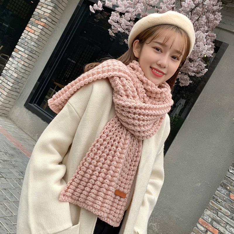 Шарфы зима теплый длинный вязать шарф женские толстые
