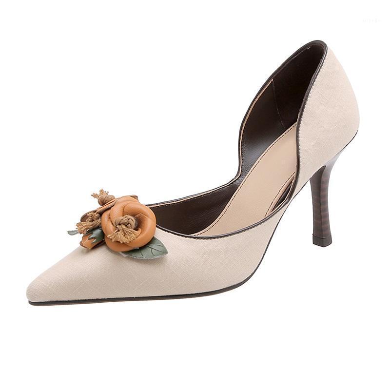 Nuovo 2021 Primavera Autunno Donne Pompe Sexy Tacchi alti appuntiti Scarpe da punta Donna Pompe da sposa Donna Abito Dress Party Shoes Donna 391