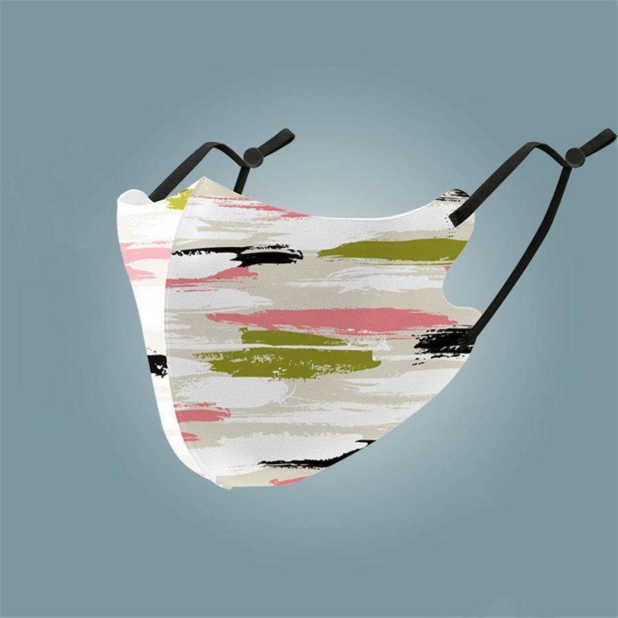 Оптовая маска Earloops Главной Комфортной Mascherine Maschera Маски Рот пыл Маска Дизайнер Printed Face # 334