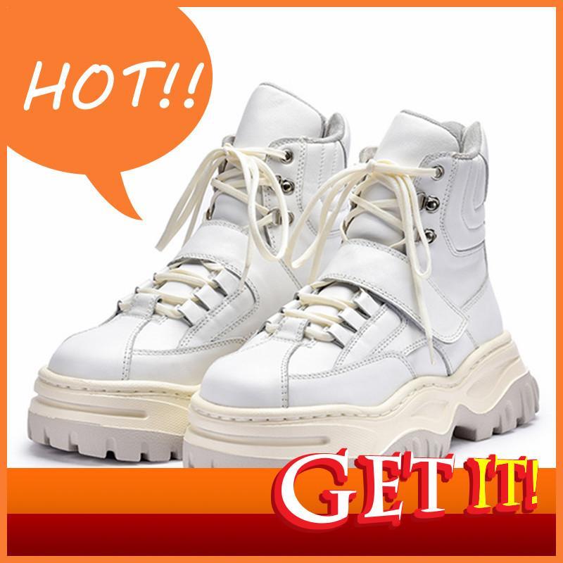 Женская лодыжка в аренду до кроссовки платформы для платформы верховые дамы плоские туфли женщин резиновые ботинки YLXX
