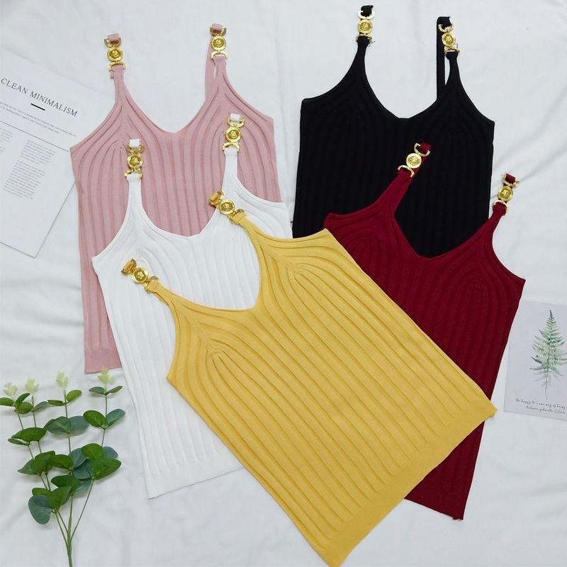 Neue Stil Frauen Weste Metall Dekorative Dame Kleidung Stoff Komfortable enge Multi-Farb-hohe Qualität auf Lager
