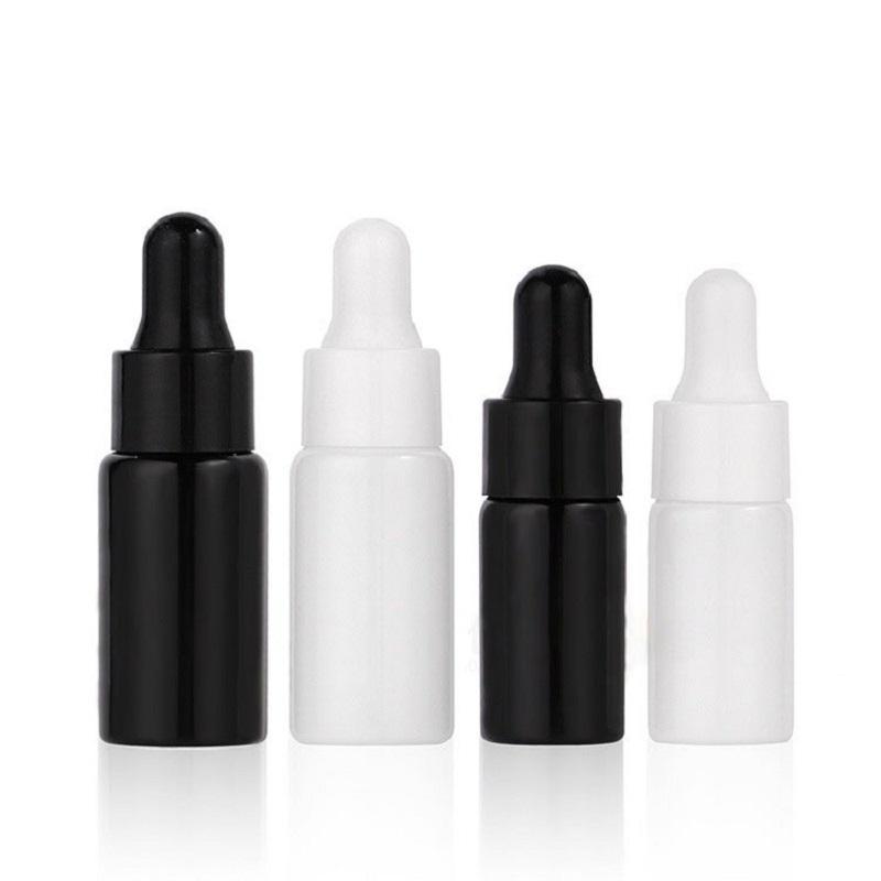 3ml 5ml Mini Glass Essential Oil Perfume Bottles Liquid Reagent Pipette Eye Dropper Aromatherapy Bottles Black/White