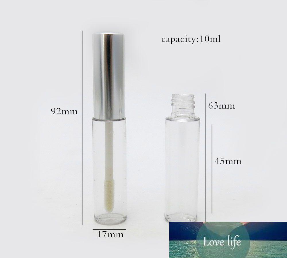 Lip Gloss Container 1/3 Unzen Lip Gloss Brillant Flasche nachfüllbare Rohrbürste leeren Lippenstift Packaing