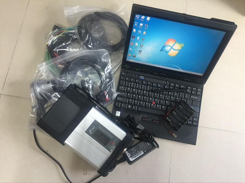 Для автомобилей Mercedes и Trucks Scanner Tool MB Star C5 Super HDD SSD ноутбук X201T I7 4G готов к работе