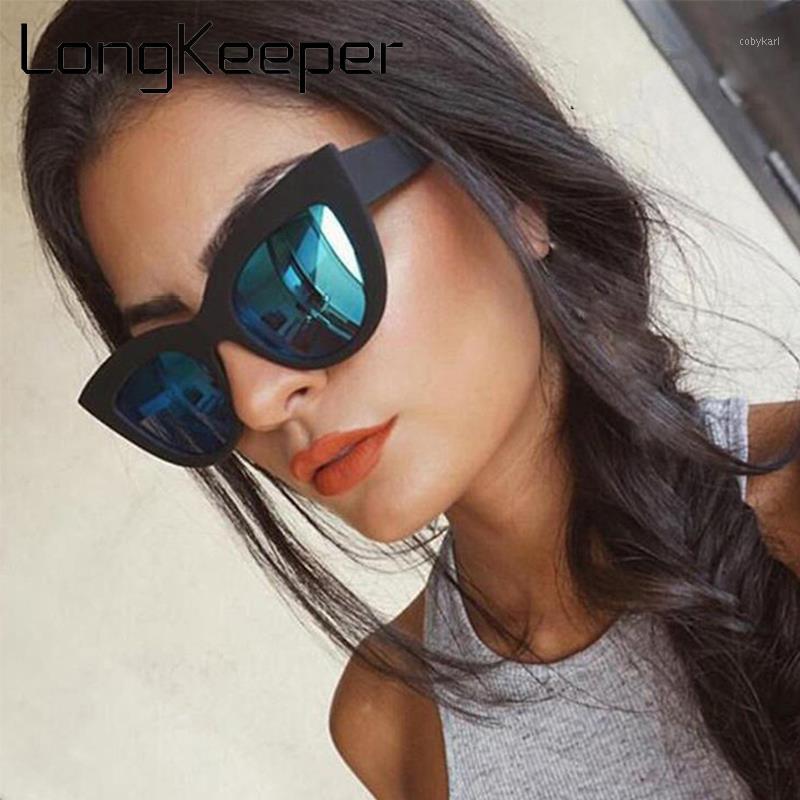 Occhiali da sole gatto moda occhiali da sole donne retrò marca designer specchio occhiali da sole femminile nero blu occhiali UV400 Lentes de Sol Mujer1