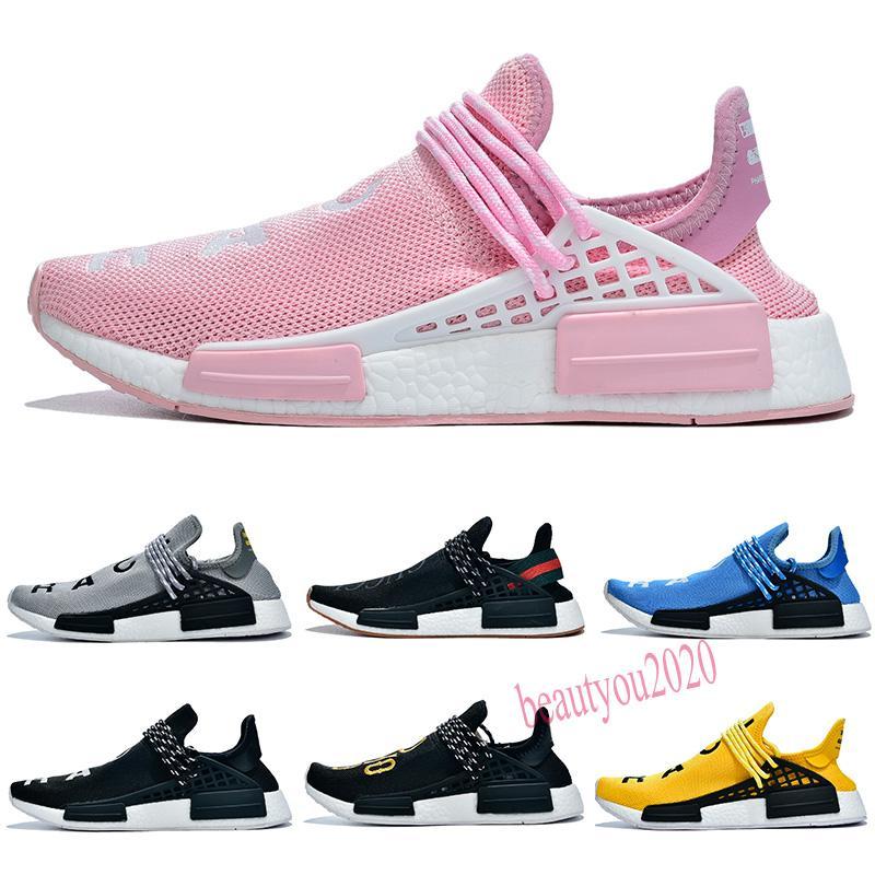 2020 Menschliche Rasse Hu Trail Pharrell Williams Männer Athletische Schuhe Nerd Black Creme Orange Red Herren Trainer Sport Runner Sneakers Größe 36-47 B20