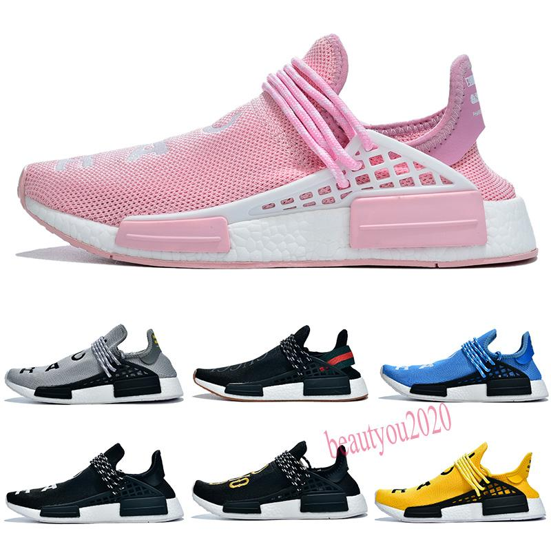 2020 Corrida Humana Hu Trail Pharrell Williams Homens Athletic Sapatos Nerd Creme Preto Laranja Vermelho Mens Trainer Sports Runner Sneakers Tamanho 36-47 B20