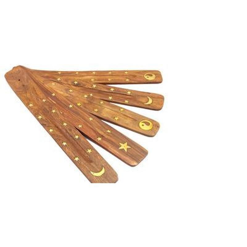Encens en bois Stick Stick Stick Catcher Burner Stand Stand Protection de meubles Base d'encens Aromather Jllhsv Sinabag