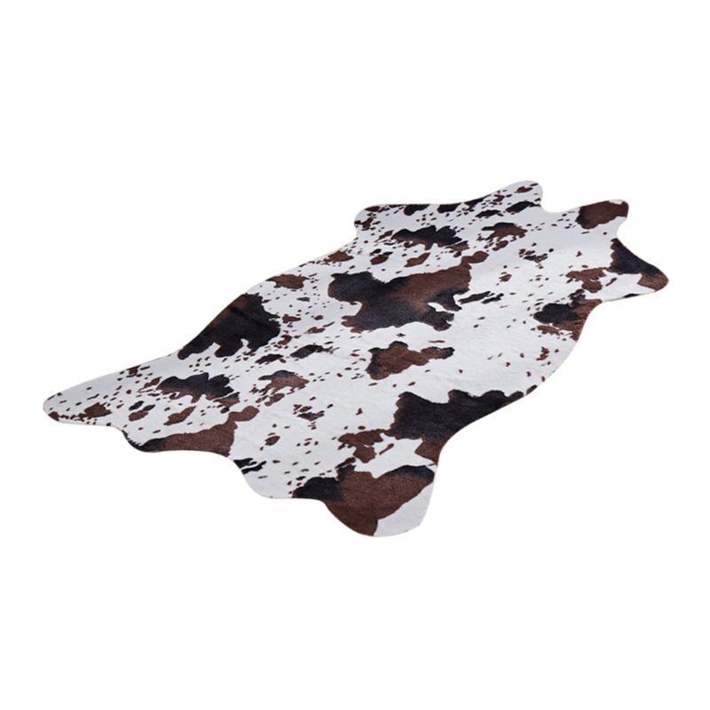 Soft Skin animal Decor Faux Fur Tapete antiderrapante Mat Tapete Decoração Home - vaca / Zebra Disponível