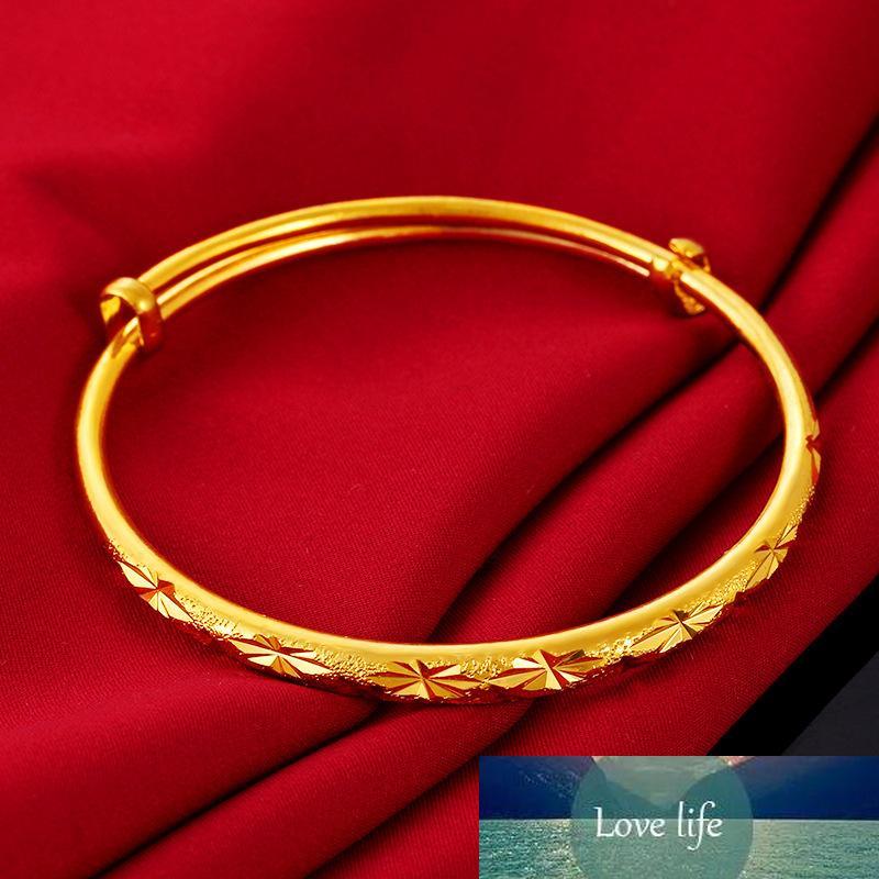 Preço de fábrica Mantenha cores Vietnã aluvial braceletes de ouro de moda conciso ajustável desenhos de pulseira para as mulheres