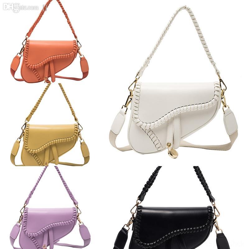 FQ0LX Best Designer Handtaschen Sattel Mode Brieftasche Frauen Umhängetasche Echtes Leder Weibliche Handtasche mit Stickerei Crossbodybag Luxus
