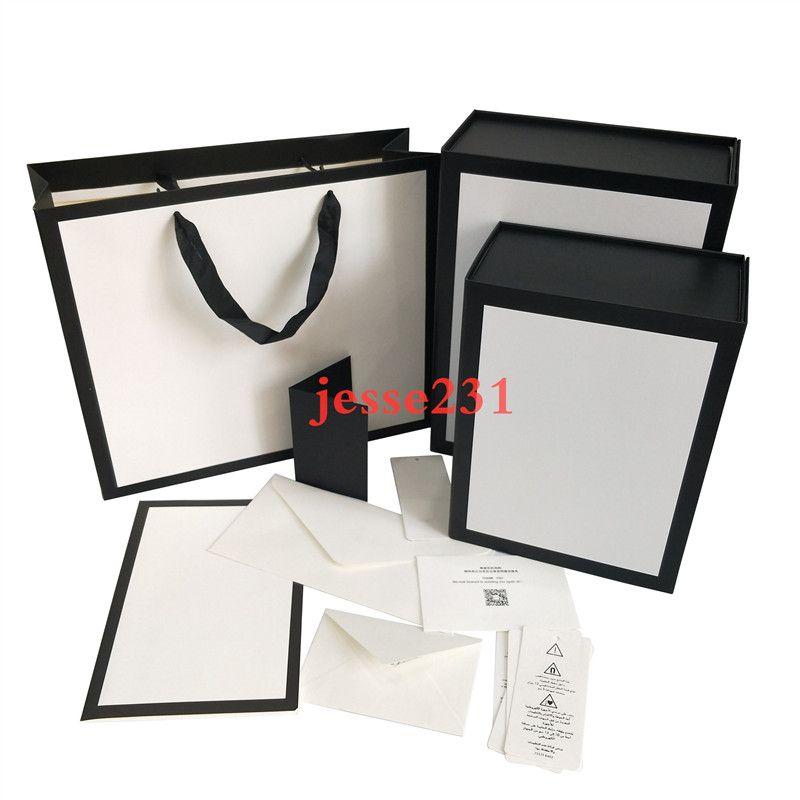 Mujeres bolsas de hombro negro de regalo caja de accesorios con el certificado de tarjeta cesta con 2 Tamaño