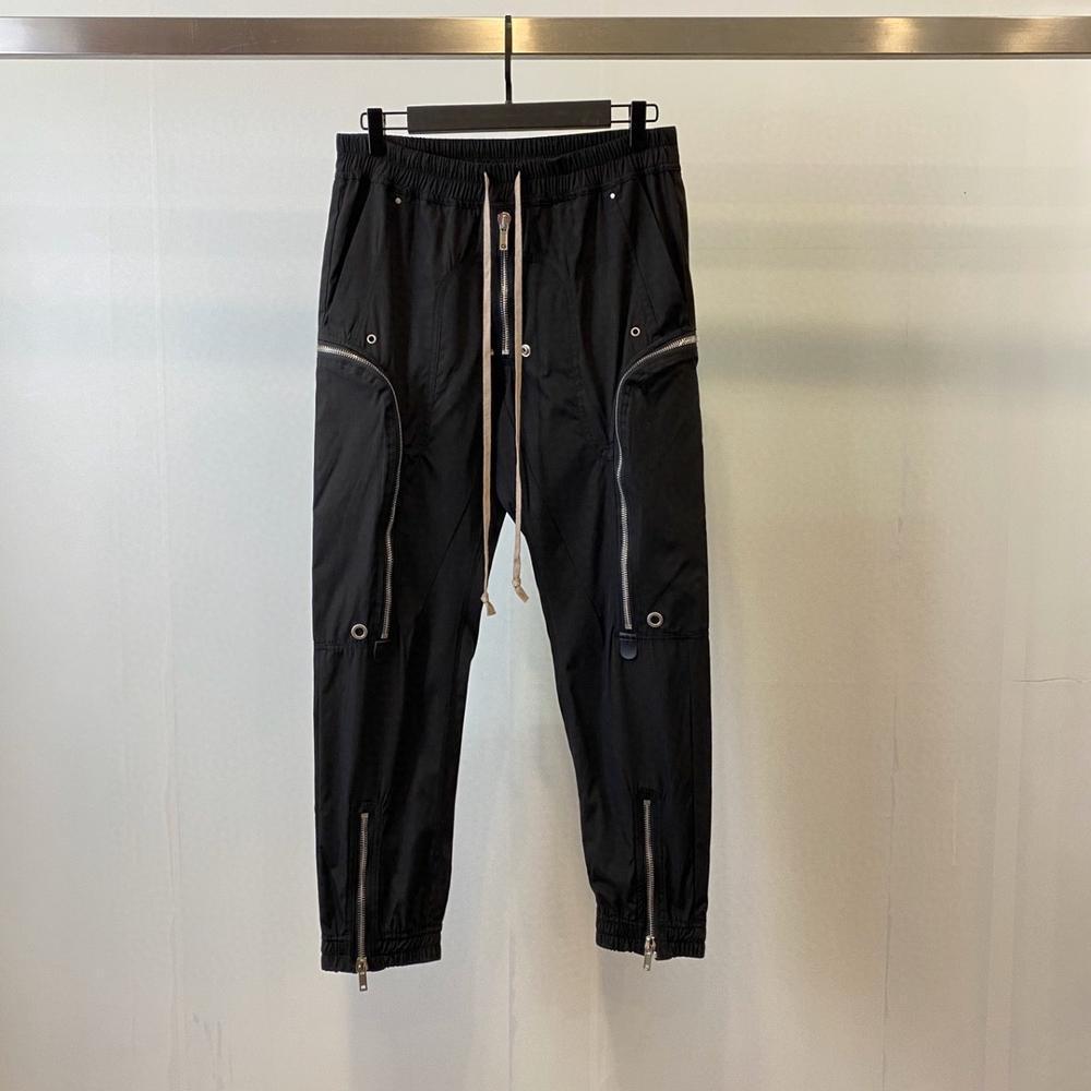 20ss Owen Seak Erkekler Rahat Kargo Harem Pantolon Gotik Erkekler Giyim Yüksek Sokak Sweatpants Yaz Kadın Uzunluğu Gevşek Siyah Pantolon 201110