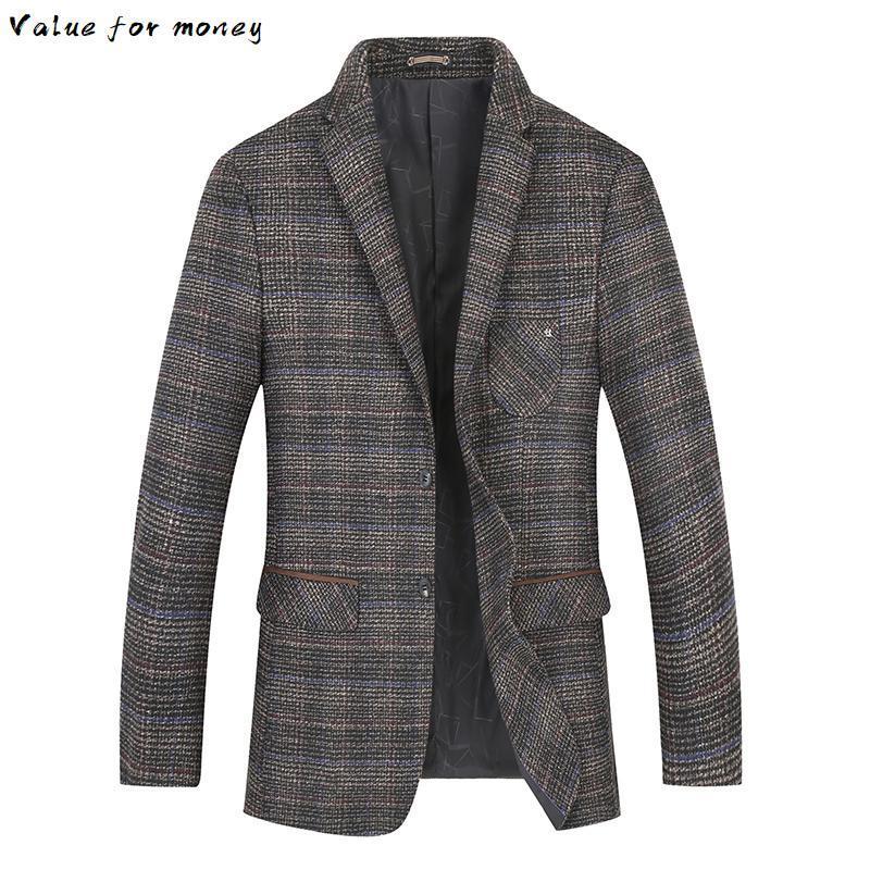 new 2020 plus size 8XL 7XL Autumn winter business coat add fertilizer increased male casual suit jacket loose fat male jacket