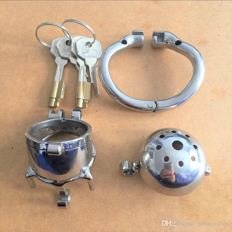 Bloqueio de aço duplo China Projeto inoxidável Penis bloqueio gaiola Anel Chastity dispositivo de metal mais novo Cinto de castidade Brinquedos Sexo Masculino For Men Ekfxc