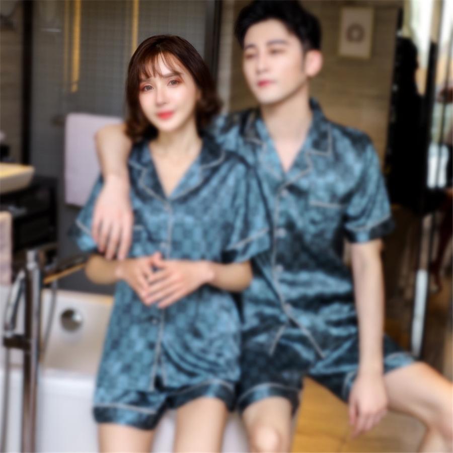 Estilo japonés Nuevo primavera y verano Pijamas de algodón seda pantalones de manga larga traje traje de estampado de flores Tit de servicio de casa 201012 # 63411111