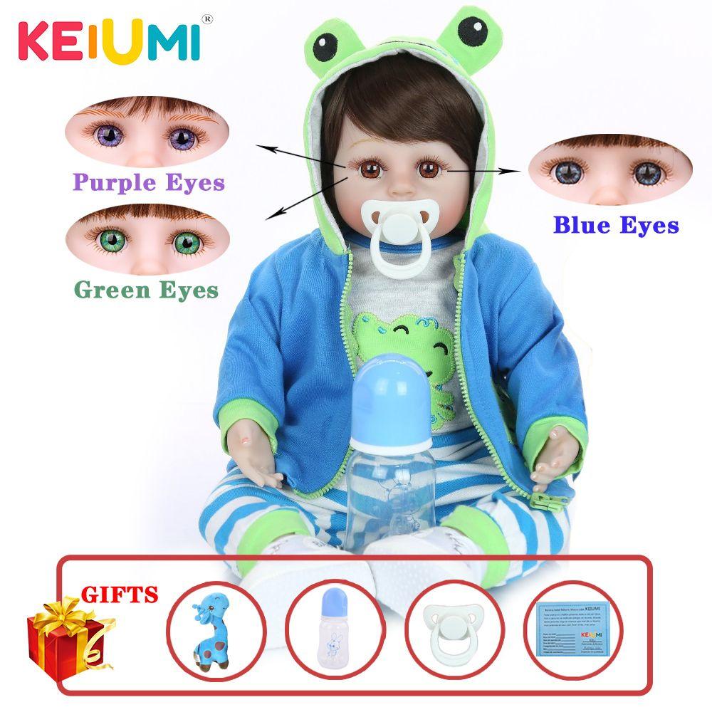 KEIUMI Hot Sale Reborn Baby Doll Мягкая силиконовая ткань тела Реалистичная кукла Новорожденные игрушки с Жираф Дети подарки на день рождения 1011