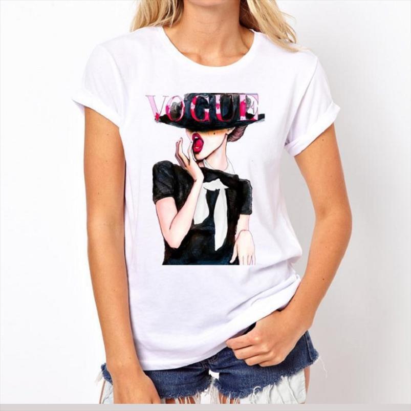 VOGUE Punk Principessa Printed T shirt 2020 di stile di modo di estate donne della maglietta divertenti Harajuku casuali T Maglie a manica corta lovrly