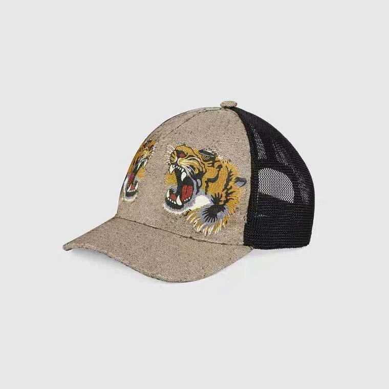 Klasik Üst En Iyi Kalite Yılan Tiger Arı Kedi Tuval Sizlü Erkekler Beyzbol Şapkası Kutusu Ile Toz Çanta Moda Kadınlar Güneş Şapka Kova Şapka 426887 07