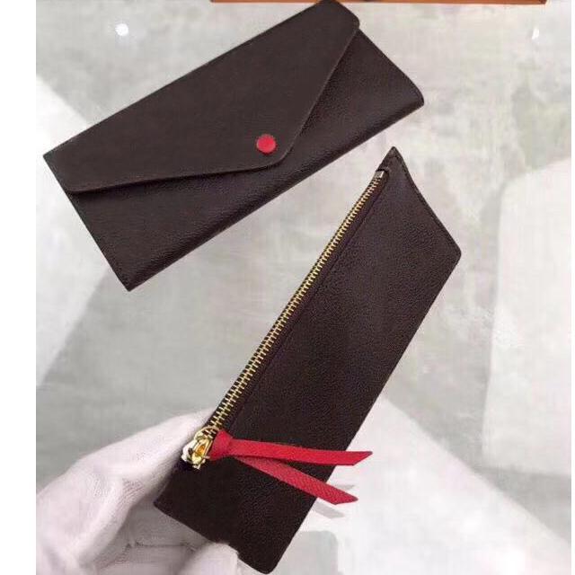 اثنين من قطعة مجموعة المحفظة للنساء جلد طويل محفظة بطاقة حامل محفظة سستة الحقيبة عملة جيب جوزفين المنظم محفظة مخلب محفظة