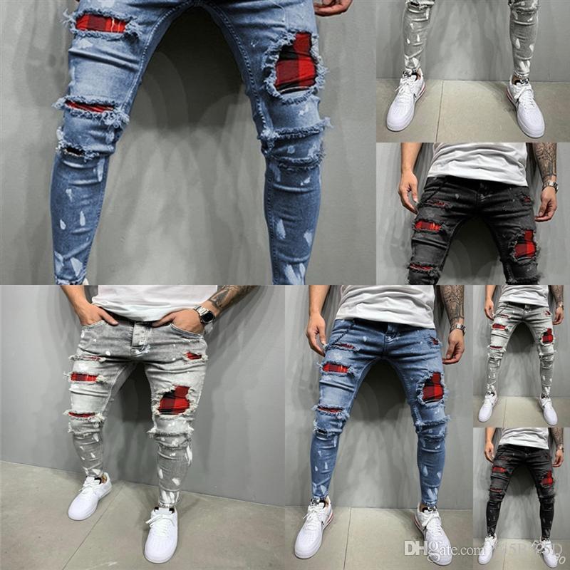 zn7 nouveau jeans slim de haute qualité brodé de haute qualité pour hommes