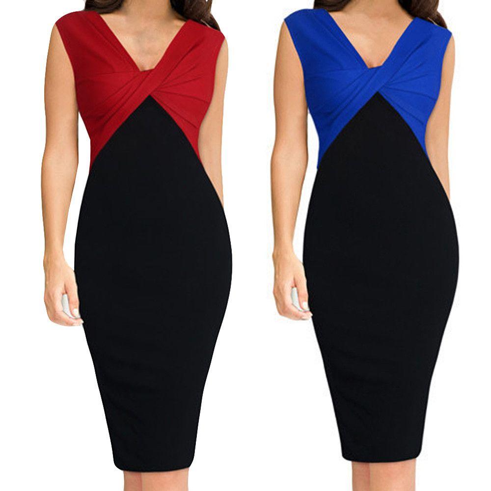 2020 Мода лето Пэчворк Сложите делопроизводство платья Sexy Bodycon рукавов женщины вскользь платье партии Платья