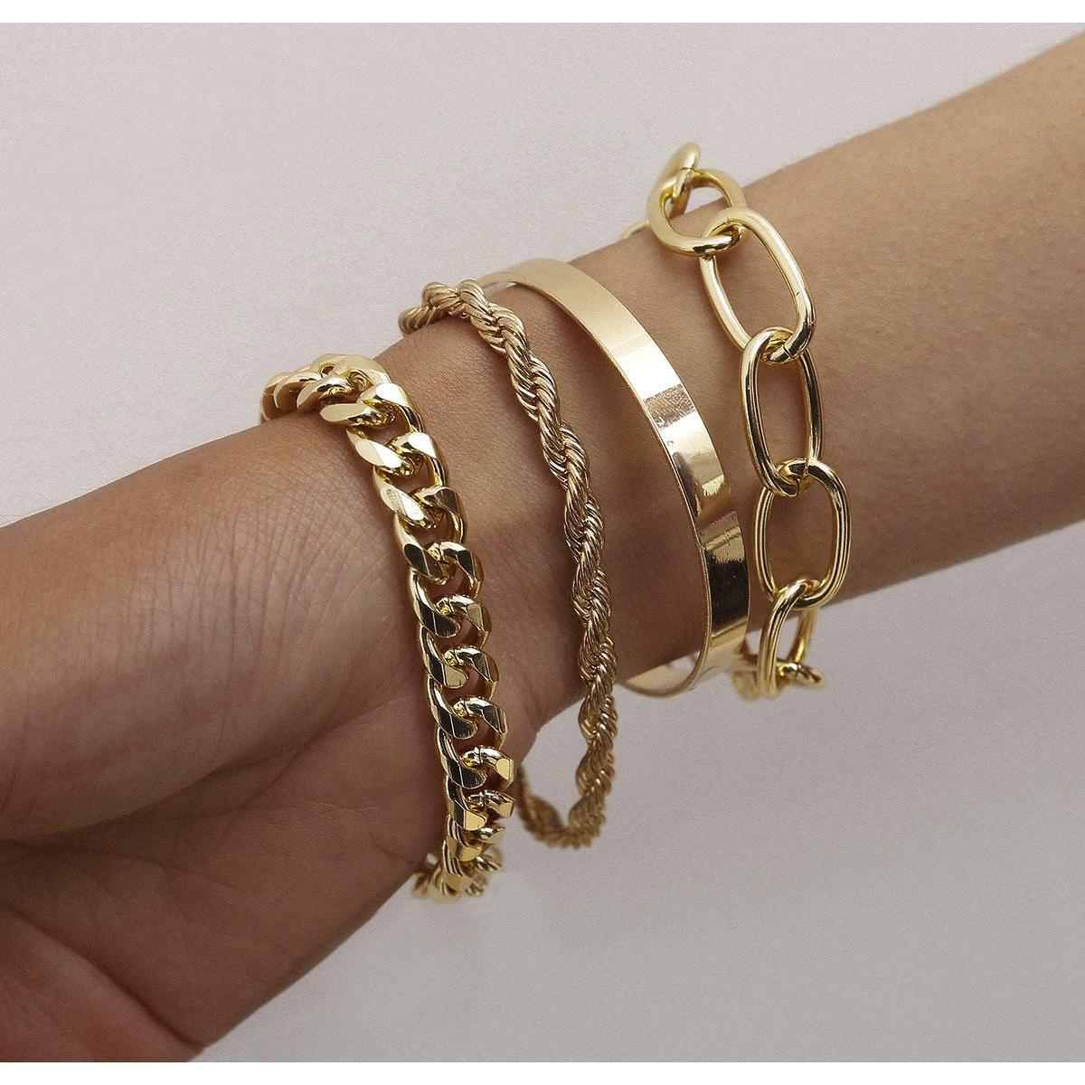 Pulseira de aço conjunto de ouro de ouro para homens e mulheres promessa de festa Championshi Sqcehz Queen66
