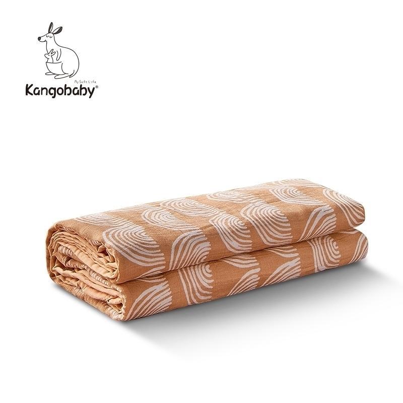 Kangobaby 4 слоев 100% хлопок многофункциональный новорожденный детское полотенце для ванн многоразовый моющийся петание одеяло Y201001