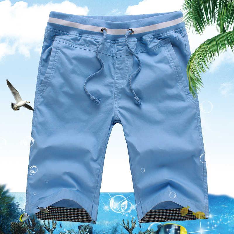 Новые 2020 мужские летние повседневные мужчины прямые шорты мужские моды хлопчатобумажный пляж короткие конфеты цвета плюс размер 5xL