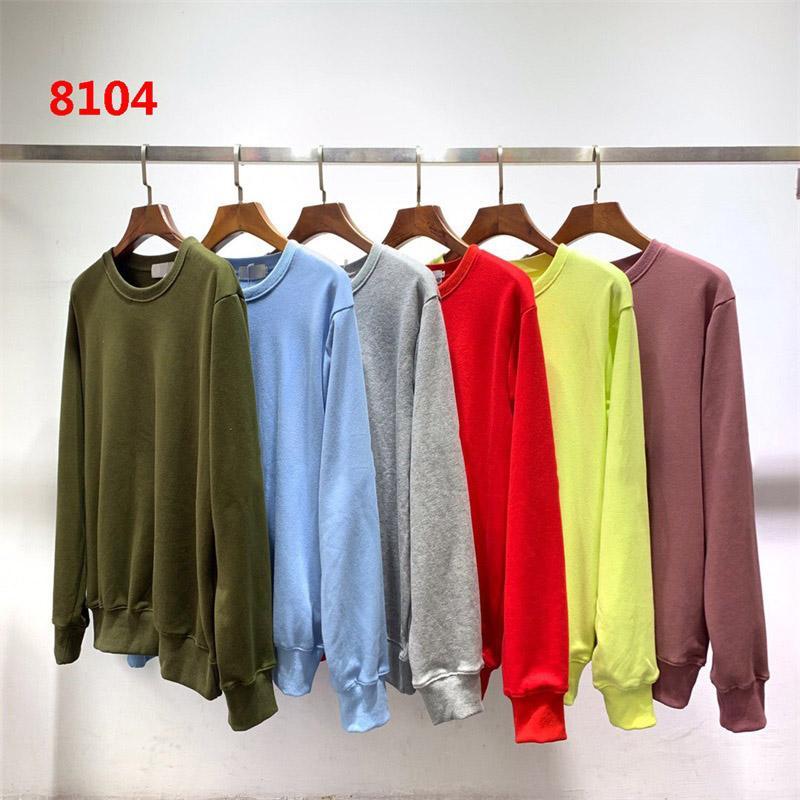 8104/811 Mens Sweats de Sweats Sweats Deiger Femmes Couple Automne Hiver Hommes 108 Sweats à manches longues Hip Hop Sweatshirts Pull Sweater ISL Pull S-2XL