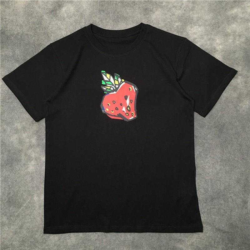 Мода - уличная мода мужская футболка 2020 клубничный узор Теннис с короткими рукавами футболки мужские и женские пары стиль высококачественный хип-хоп