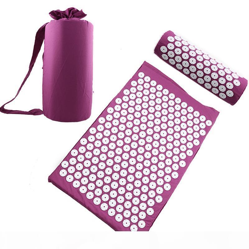 L'agopuntura pad digitopressione Mat capo del collo Piede di massaggio del cuscino Yoga Mat Spike antistress Ago per massaggi