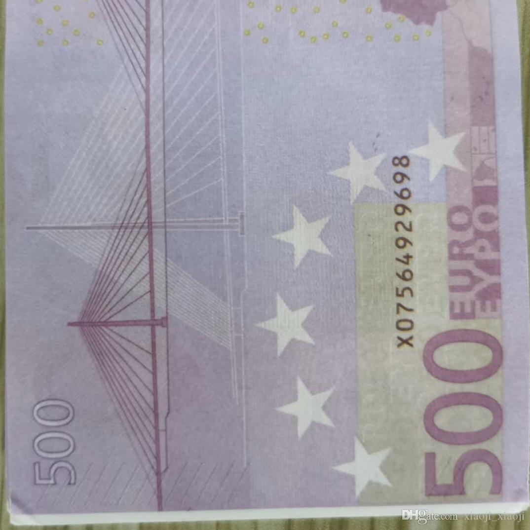 La maggior parte per la carta realistica Euro Prop 100 pz / pack Bambini gioco Giocattolo o famiglia 500 Play Copia banconota Collezione monetaria 02 US IRNLB