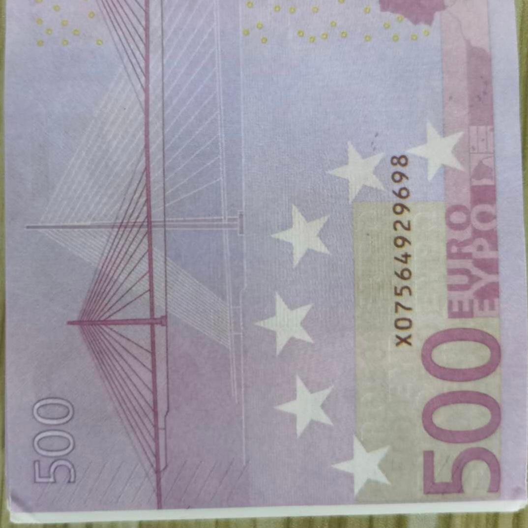 La maggior parte degli Stati Uniti 500 02 100pcs / Pack Soldi di carta per bambini Gioca Pop o Family Toy Euro Copia banconota per la collezione Game realistico vjlgl