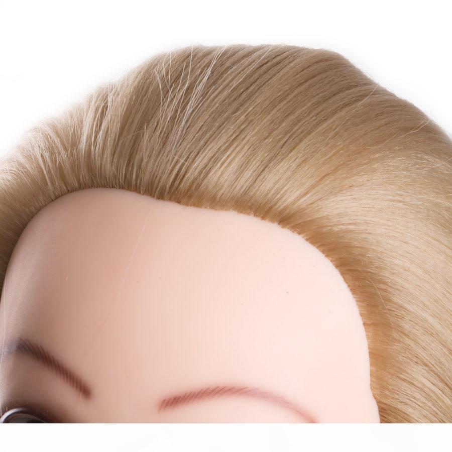 bonecas de cabeça para cabeleireiros 80cm cabeça cabelo sintético manequim penteados Mannequin fêmea cabeleireiro Styling cabeça Training