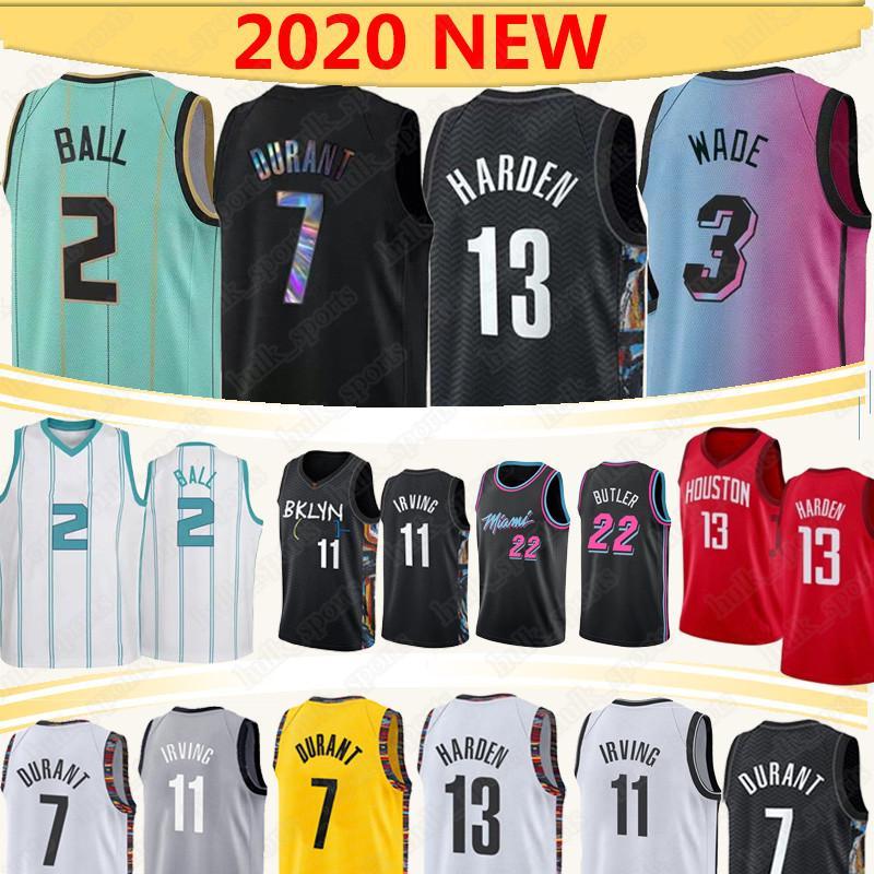 7 Durant 13 Harden Basketball-Trikots 2 Kugel 11 Irving 3 Wade 2020 NCAA 0 Westbrook 22 Butler 14 Herro Basketball Jersey