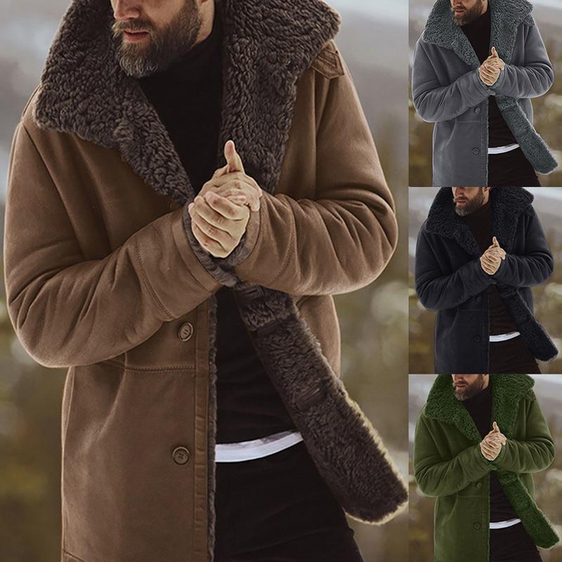 Manteau d'hiver solide Épaissir chaud Veste Manteau vintage hommes Outwear coupe-vent chamarra Hombre Polaire Homme Veste Homme Parkas Clohtes