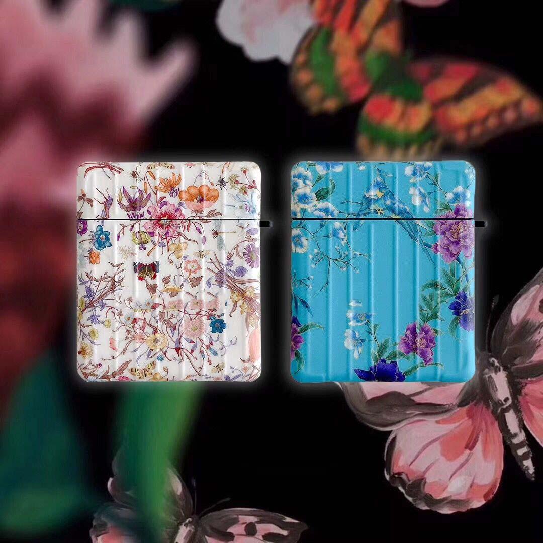 Airpods Vaka Yüksek Kalite Iphone 11Promax 11Pro 11 AirPods + Moda Tasarımcısı Çiçek Stil Iphone Olgular 1/2 AirPods Pro Paketler -2