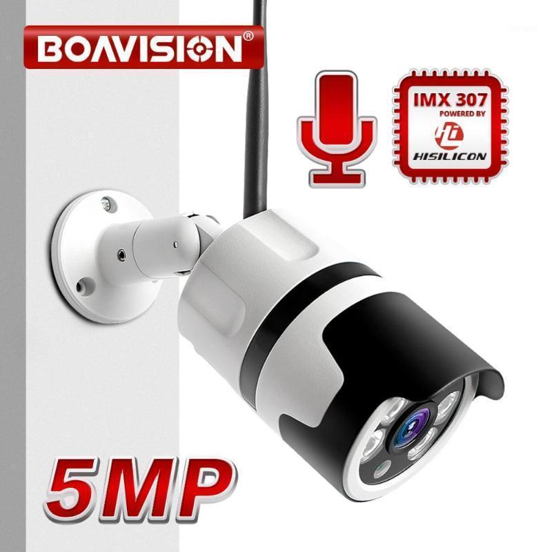 HD 1080P 5MP WiFi IP Camera Onvif Sem Fio Visão Noite Ao Ar Livre 20m CCTV Câmera de Segurança Dois Way Alarme de Áudio P2P Camhi1