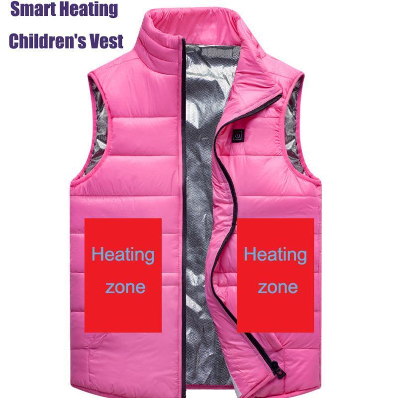 Открытый футболки для мальчиков для девочек интеллектуальный электрический отопительный пиджак детей зима USB зарядки с подогревом жилет одежды