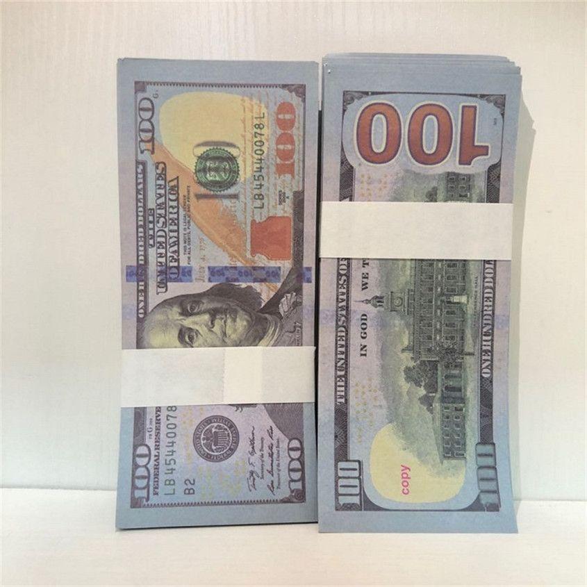 100-1 Währung Fast Bar Ubxde Requisiten Amerikaner Großhandel Versand Dollar 100 Atmosphäre Papierstützen Stücke / Paket Geld Papier FCCXP