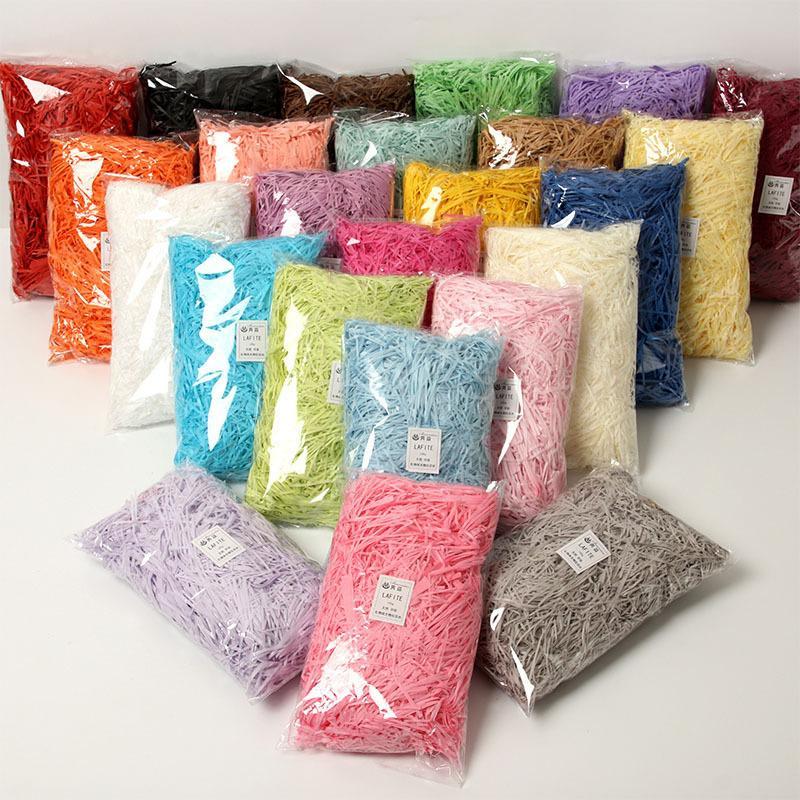 100g bunte Geschenk Wrap zerrissene Crinkle Paper Raffia Candy Boxes DIY Geschenke Box Füllung Material Hochzeit Ehe Home Decoration 83 P2
