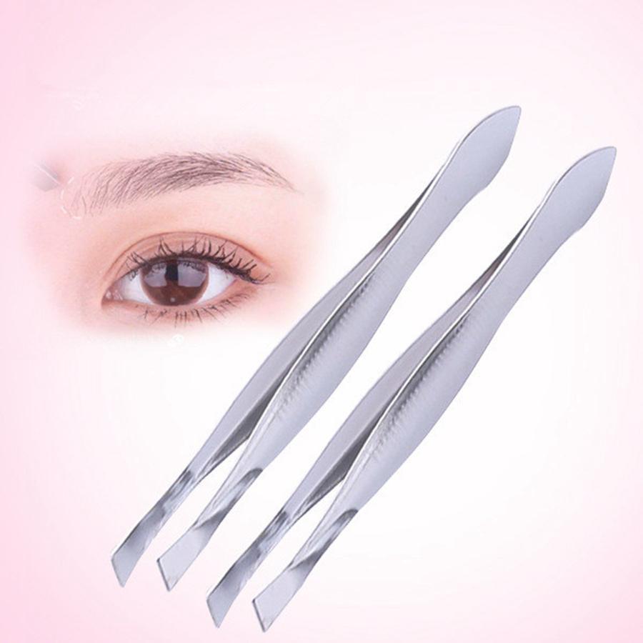 Edelstahl Abschrägung Augenbrauenclip Edelstahl Augenbraue Pinzette Kosmetische Make-up-Werkzeuge Eyebrow-Werkzeug
