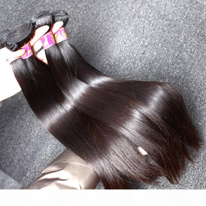 3шт много Mix Lenght 100% перуанских волос девственницы человеческие волосы пачки высокого качества наращивание волос натуральный цвет шелковистой прямой DHL доставка