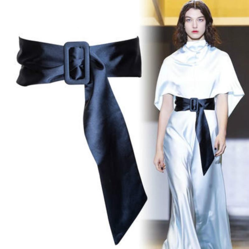 Kemerler İmitasyon İpek Bant Genişliği Kemer Ve Dekoratif Elbise Etek Eşarp Kırmızı Mavi Pembe Lady Tasarım Bel Mühür Için Uygun