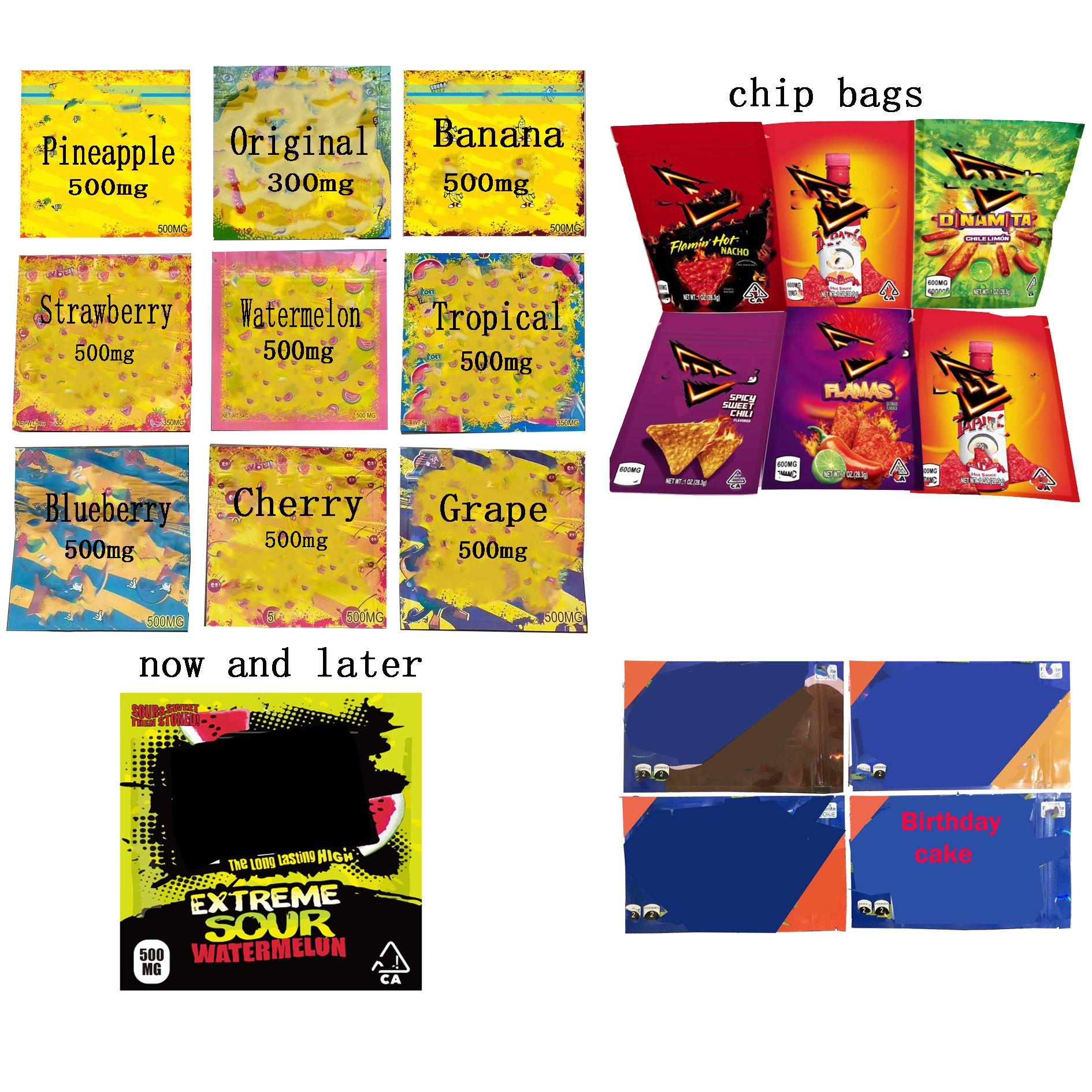 Vendita calda 500mg Doritos Doritos Chip Bag medicated 420 mg 400mg Corda Dank Gummies LOL Edibles Hashtag Svuoti Borsa per imballaggio Vuoto Borse gommose