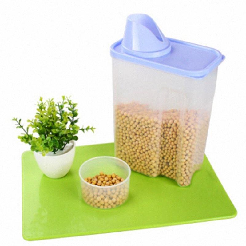 3L Depolama Tankı Mutfak Aracı Mutfak Plastik Kuru Taneleri Depolama Tankı Şeffaf Plastik Mühür buIi #
