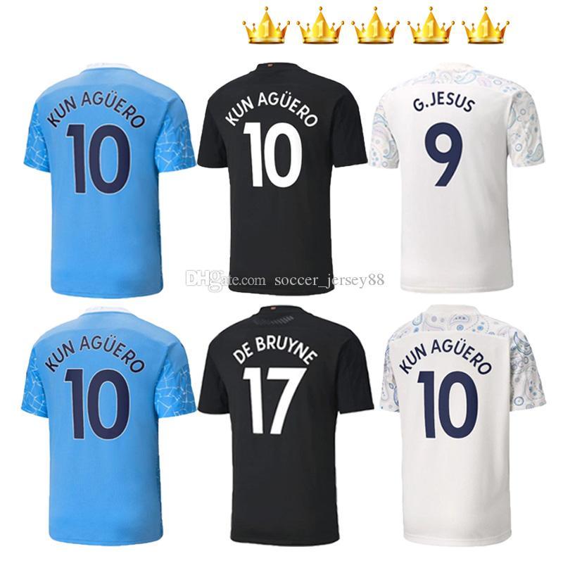 Men +Kids kits 2020 2021 soccer jerseys Women MAHREZ DE Bruyne KUN AGUERO football shirt city 20 21 MENDY SANE manChester maillot de foot
