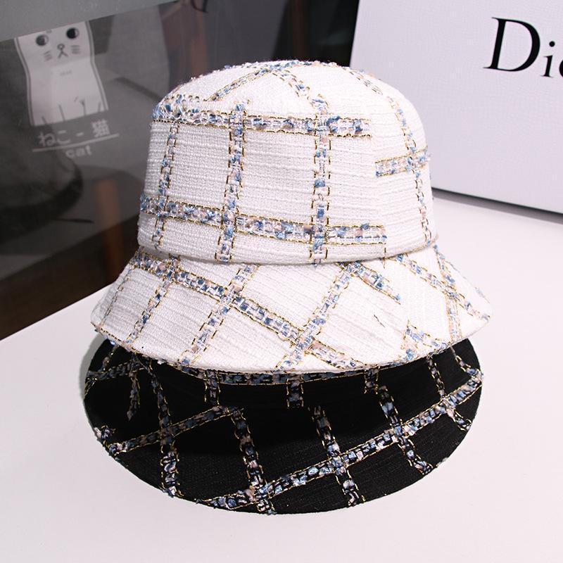 2020 Новый стиль для осени и зимы Gold Thread Рыбака Hat Корейский стиль защиты ВС Зонт Bucket Hat