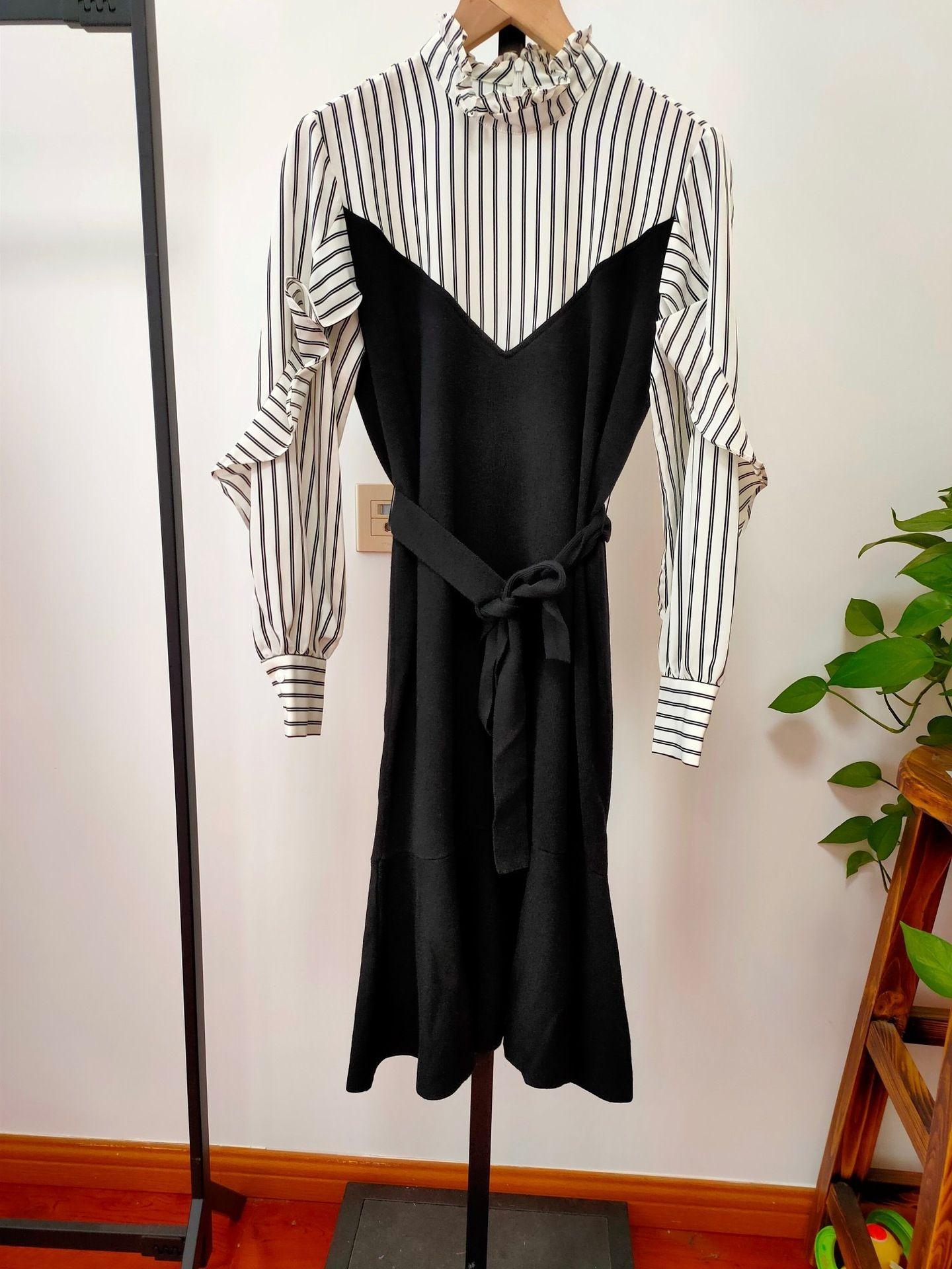 fL2zx YFL sonbahar 2020 bel Koreli yüksek etek elbise örme etek 1b8997971 t9Ont balık kuyruğu yeni Fishtail dikişli